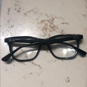 Black frame unisex ray ban glasses